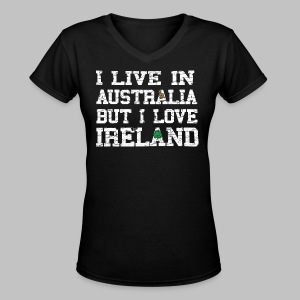 Live Austalia Love Ireland - Women's V-Neck T-Shirt