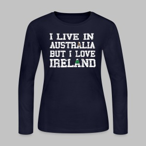 Live Austalia Love Ireland - Women's Long Sleeve Jersey T-Shirt