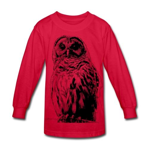 Barred Owl 4125 - Kids' Long Sleeve T-Shirt