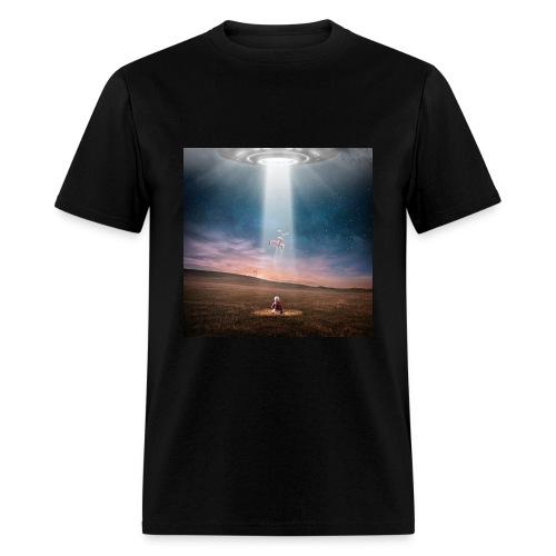 UFO & kid - Men's T-Shirt