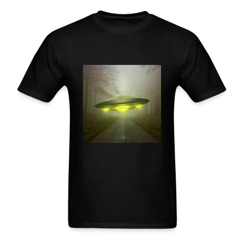 UFO in the forest - Men's T-Shirt