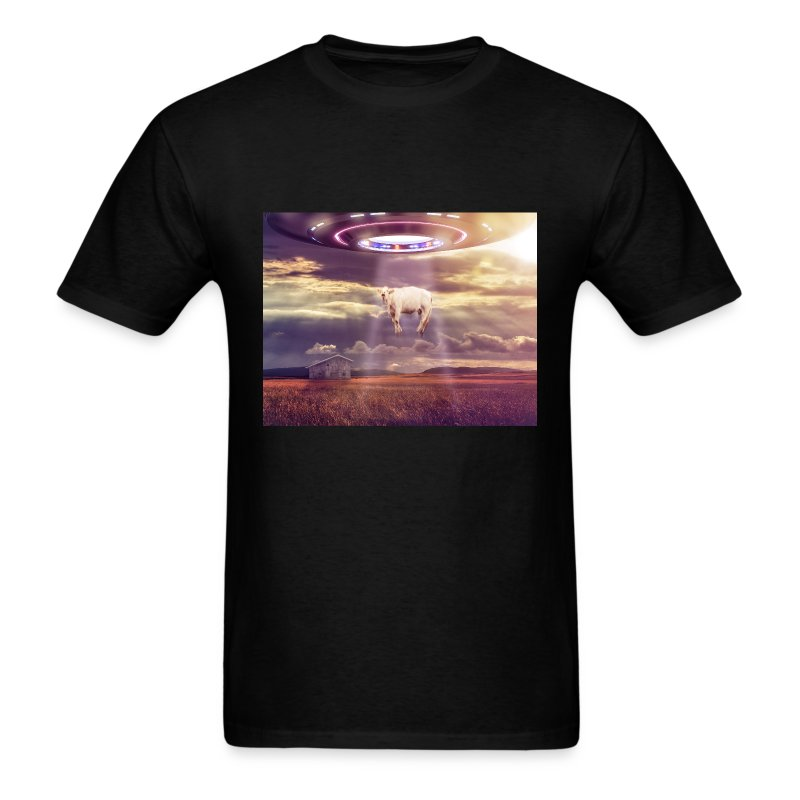 UFO Cow Abduct - Men's T-Shirt