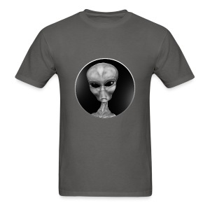 Grey Alien Window - Men's T-Shirt