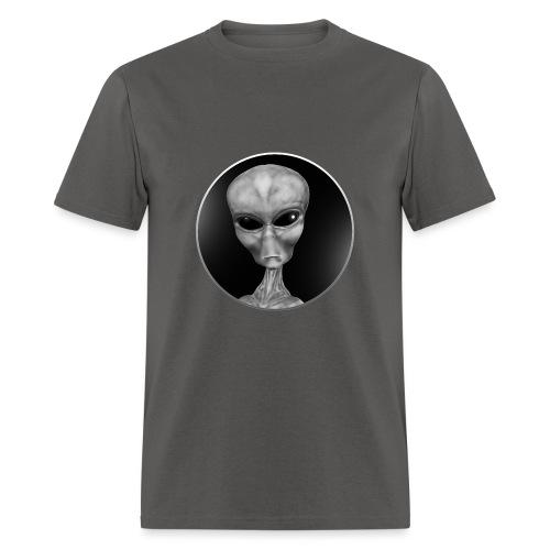 Grey Alien Window - Men's T-Shirt