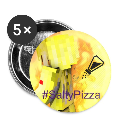 Salty Pizza Pin set - Large Buttons