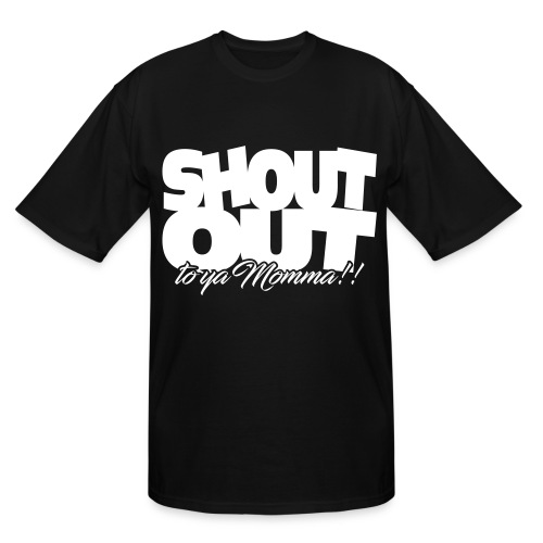 Shout Out (White) - Men's Tall T-Shirt