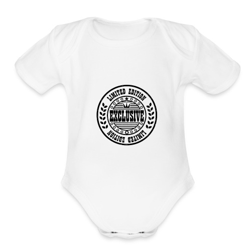 Limited Edition - Organic Short Sleeve Baby Bodysuit