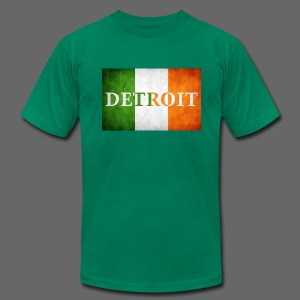 Detroit Irish Flag - Men's T-Shirt by American Apparel