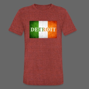 Detroit Irish Flag - Unisex Tri-Blend T-Shirt by American Apparel
