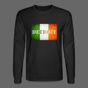 Detroit Irish Flag - Men's Long Sleeve T-Shirt
