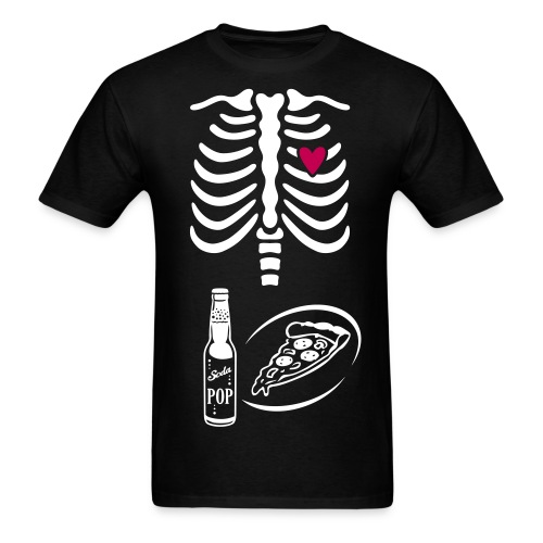 Dad to Be Skeleton Tee with POP & Pizza - Men's T-Shirt