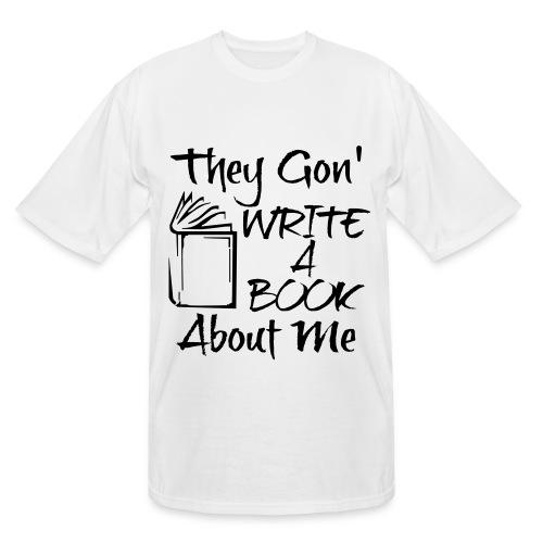 Write A Book (Black) - Men's Tall T-Shirt