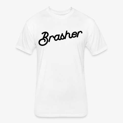 Brasher Chest White - Fitted Cotton/Poly T-Shirt by Next Level