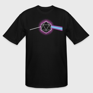 Dungeons & Dragons d20 Pink Floyd Dark Side of the Moon - Men's Tall T-Shirt