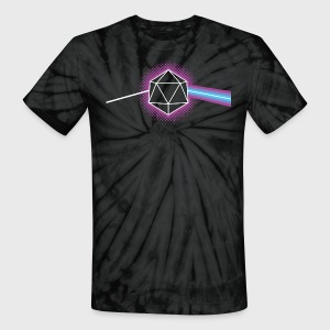 Dungeons & Dragons d20 Pink Floyd Dark Side of the Moon - Unisex Tie Dye T-Shirt