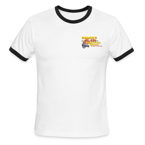 Reunion 2017 Mens Rib Sleeve Yellow Lettering - Men's Ringer T-Shirt