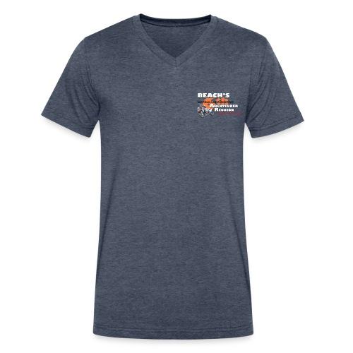 Reunion 2017 Mens V Neck White Lettering - Men's V-Neck T-Shirt by Canvas