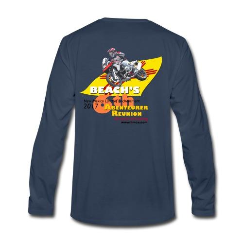 Reunion 2017 Mens Long Sleeve Yellow Lettering - Men's Premium Long Sleeve T-Shirt