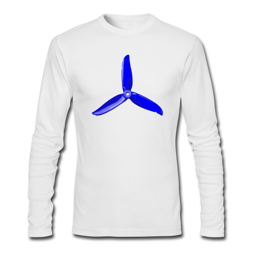 Blue Prop Light Weight Long Sleeve  - Men's Long Sleeve T-Shirt by Next Level