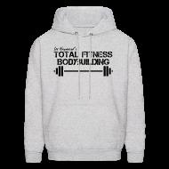 Hoodies ~ Men's Hoodie ~ Total Fitness Bodybuilding Barbell Hoodie