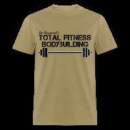 T-Shirts ~ Men's T-Shirt ~ Total Fitness Bodybuilding Barbell T-Shirt