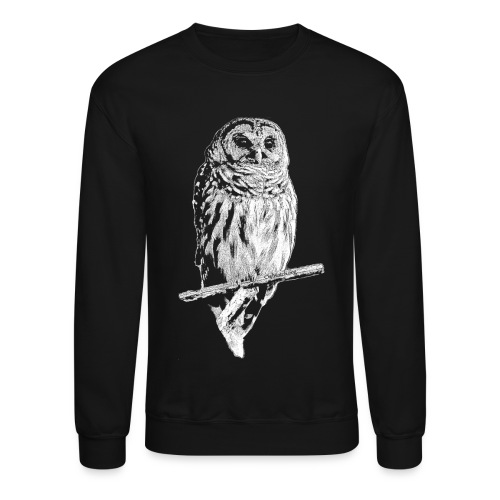 Barred Owl 4768 (white ink) - Crewneck Sweatshirt