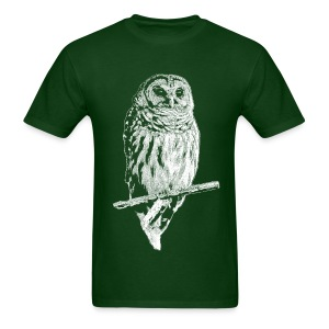 Barred Owl 4768 (white ink) - Men's T-Shirt