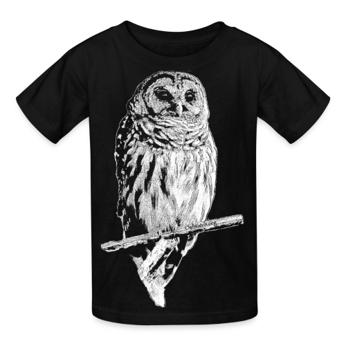 Barred Owl 4768 (white ink) - Kids' T-Shirt