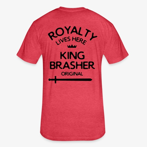 Royalty Lives Here - Red - Fitted Cotton/Poly T-Shirt by Next Level