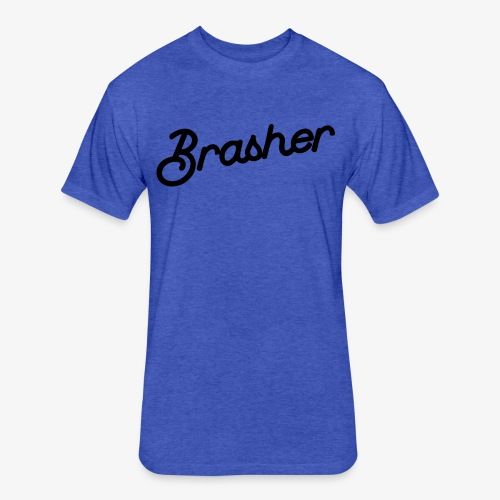 Brasher Chest - Fitted Cotton/Poly T-Shirt by Next Level