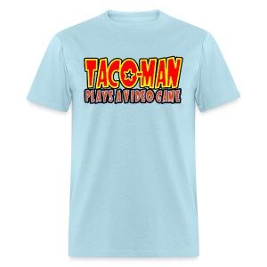 Taco-Man Plays Logo - Men's T-Shirt