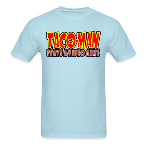 Taco-Man Plays Logo - Men's T-Shirt