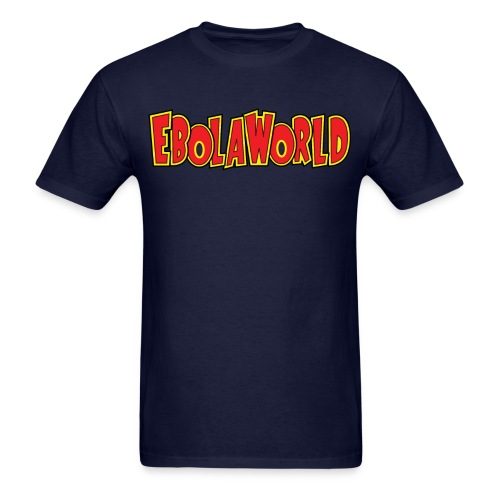 Ebolaworld logo - Men's T-Shirt