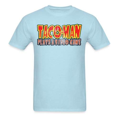 Taco-Man Plays Logo (FADED IMAGE) - Men's T-Shirt