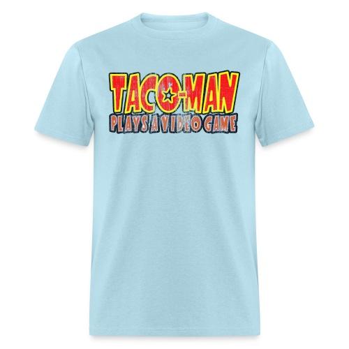 Taco-Man Plays Logo (FADED IMAGE) - Men's T-Shirt
