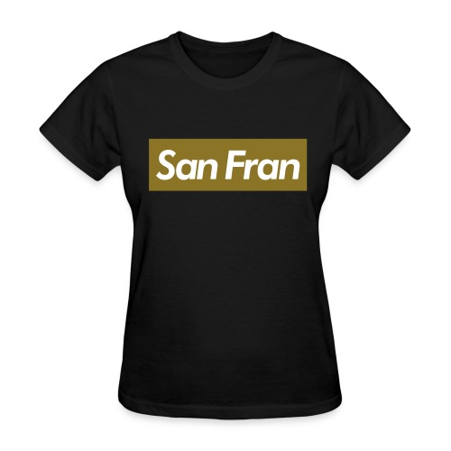SanFran Black/Gold Crewneck - Women's T-Shirt