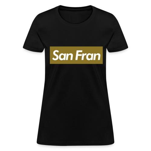 SanFran Black/Gold Crewneck - Women's T-Shirt