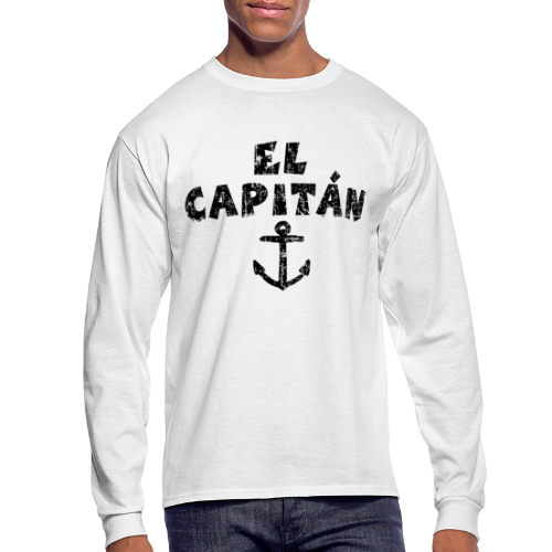 El Capitán Anchor Longsleeve Shirt (Vintage/Black) - Men's Long Sleeve T-Shirt
