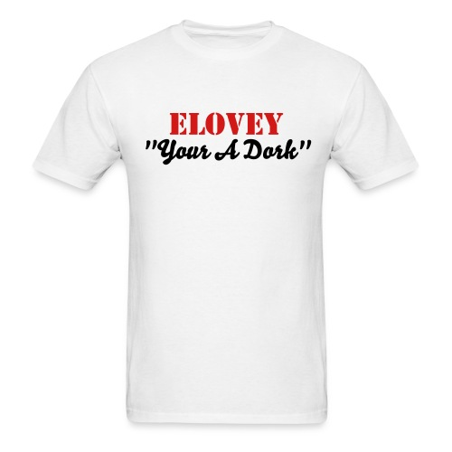 Official Mens Your A Dork Tee in White - Men's T-Shirt
