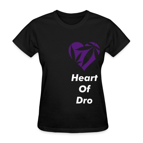 Heart of Dro Black/Purple Creweck - Women's T-Shirt