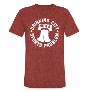 Drinking City with a Sports Problem - Unisex Tri-Blend T-Shirt by American Apparel