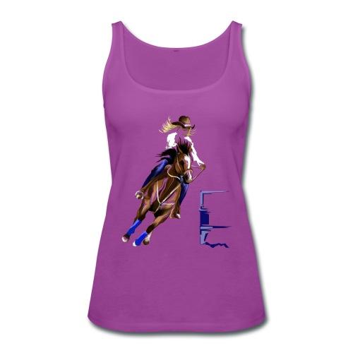 BARREL HORSE - Women's Premium Tank Top