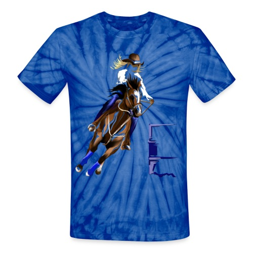 BARREL HORSE - Unisex Tie Dye T-Shirt