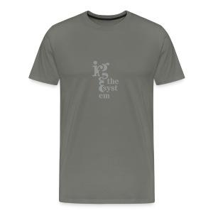 * un-Rig the System * (velveteen.print)  - T-shirt premium pour hommes
