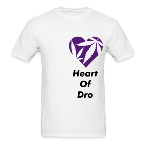 Heart of Dro White/Purple - Men's T-Shirt
