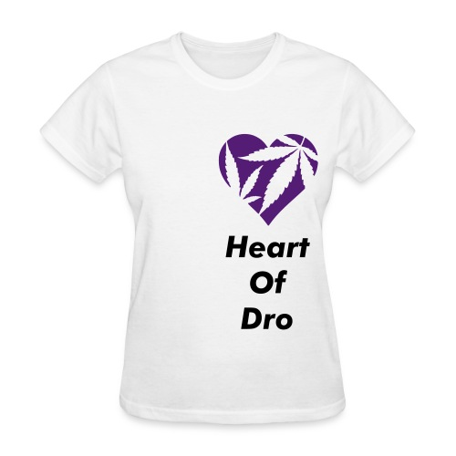 Heart of Dro White/Purple Crewneck - Women's T-Shirt
