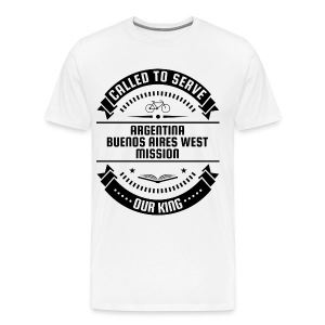 Argentina Buenos Aires West Mission - Called To Serve - Black - Men's Premium T-Shirt