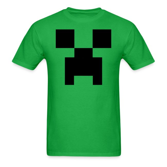 Minecraft  Creeper Full Face Pixelated Pixel - Creative Survival Hungry  Cool Diamond Sword Pick Axe 5a40b01a82