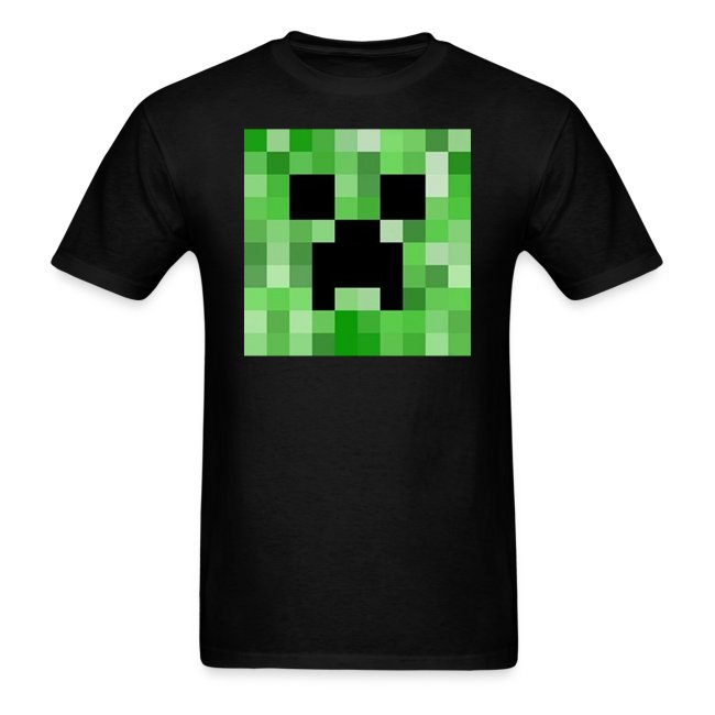 Minecraft: Creeper Full Face Pixelated Pixel - Creative Survival Hungry  Cool Diamond Sword Pick Axe Food Mining Design Fun Nerd Geek Gaming Party  Swag