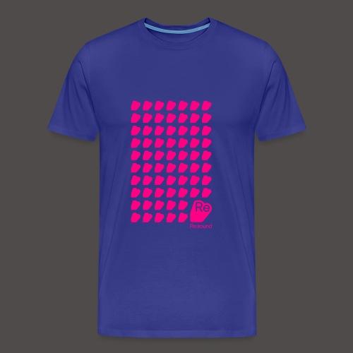 Re:Sound Music - Neon Pink on Blue (With Logo) - Men's Premium T-Shirt